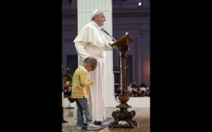 Boy with Pope