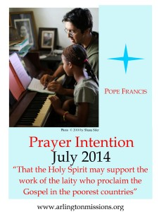Prayer Intention July 2014 evangelization